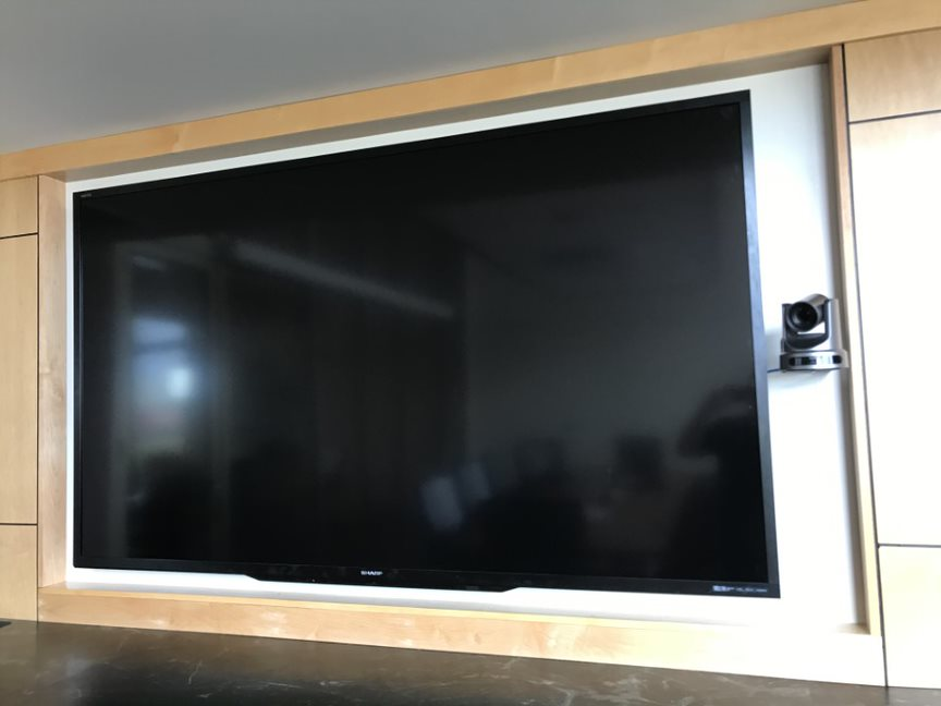 Television with streaming camera